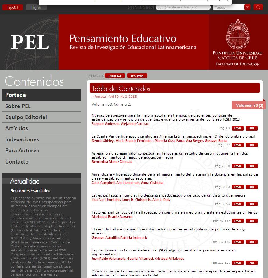 Filigrana Traducciones - Corrección de estilo para la revista Pensamiento Educativo - PUC