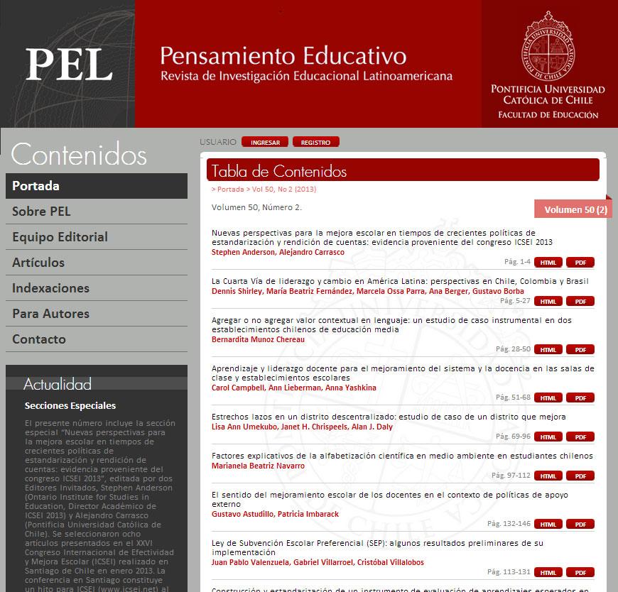 Filigrana Traducciones - Corrección de estilo en español para la revista Pensamiento Educativo - PUC