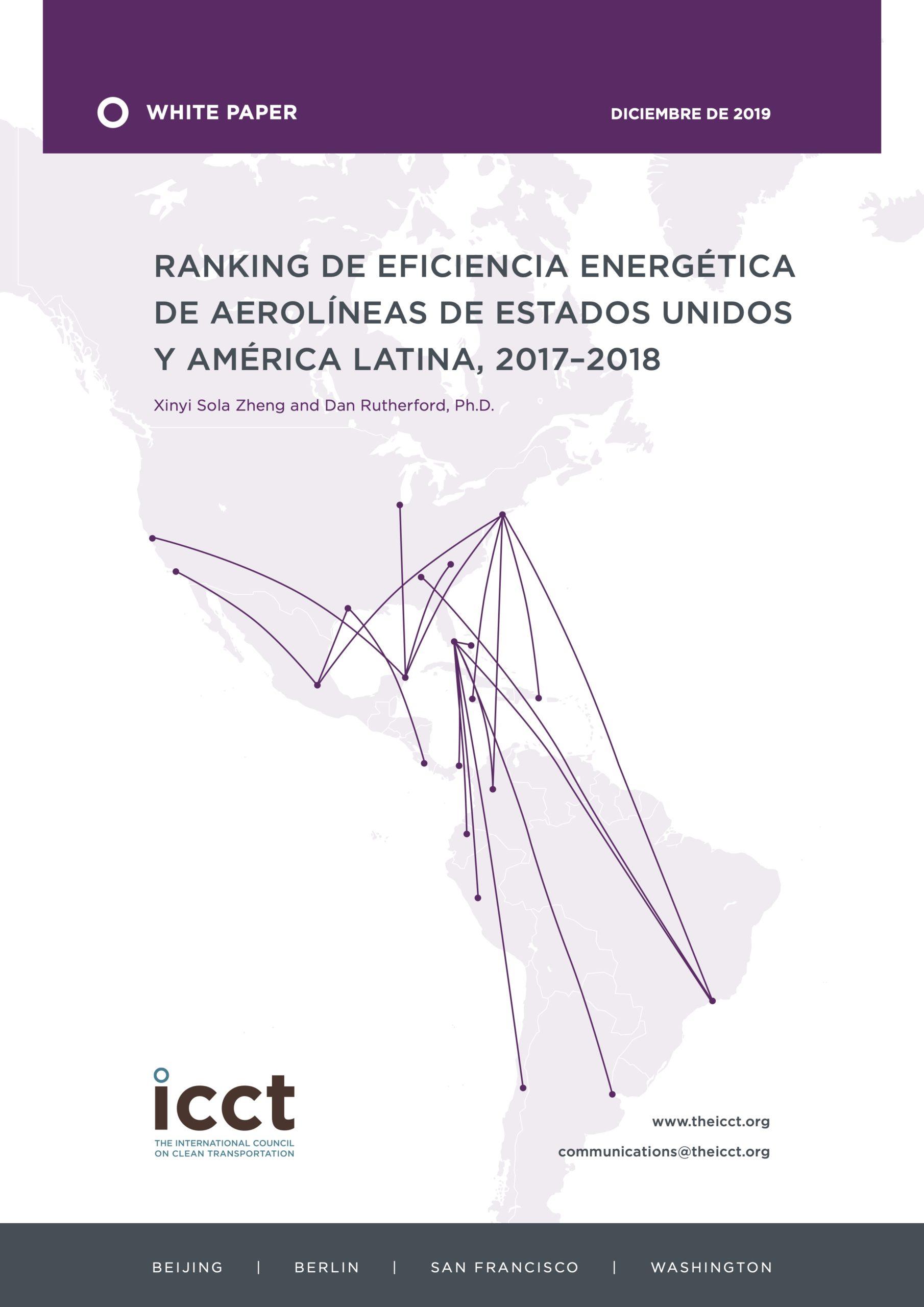Ranking de eficiencia energética de aerolíneas de Estados Unidos y América Latina, 2017–2018 - Filigrana Traducciones